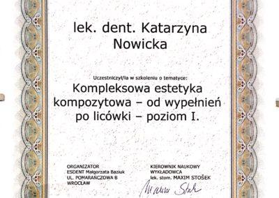 Certyfikat ukończenia kursu medycznego
