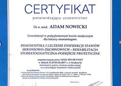 Certyfikat udziału w szkoleniu
