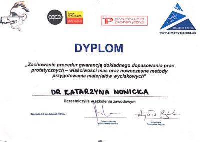 Dyplom udziału w szkoleniu