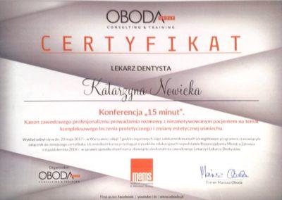 Certyfikat udziału w konferencji